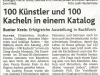 """""""100 Künstler und 100 Kacheln in einem Katalog"""""""